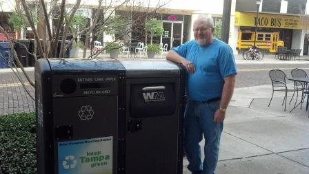 Me with a Big Belly Solar Trash Compactor